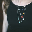 Layered Solar System Necklace - Sterling or Gold