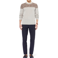 Faconnable - Panelled Wool Sweater | MR PORTER