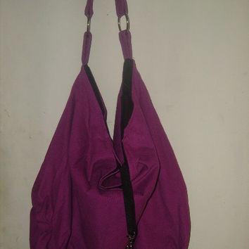 Beautiful Large oversized Fushia Slouch Hobo Shoulder Bag Travel Overnight