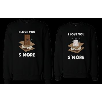 I Love You S'more Matching Couple Sweatshirts Cute Valentine's Day Gift