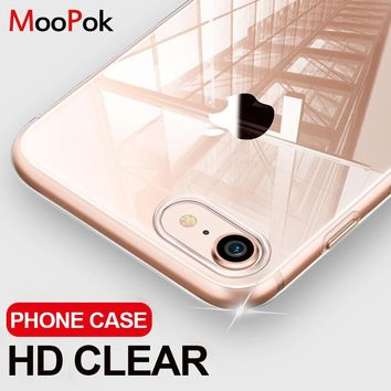 MooPok Ultra Thin Transparent Case For iPhone 8 7 Plus 6 6S Plus Cases Soft TPU Cover For iPhone 6 6S 7 8 Plus Phone Case Capa