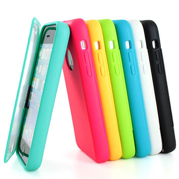 "For iPhone 6 4.7"" Plus 5.5"" Shockproof TPU Wrap Up Case Cover w/ Built in Screen"