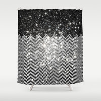 Chevron Universe Shower Curtain by Paula Belle Flores