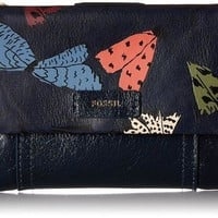 Fossil Ellis Multifunction Wallet Navy Multi Wallet