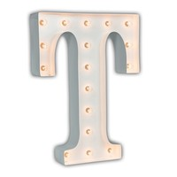 """24"""" Letter T Lighted Marquee Letters (White Gloss)"""