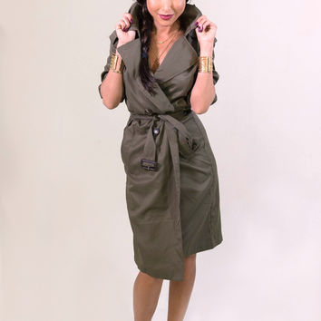 Rehab Olive Crazy Cool Trenchcoat