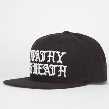 Us Versus Them Apathy Is Death Mens Snapback Hat Black One Size For Men 24105910001