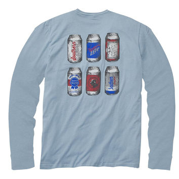 Southern Proper Six Pack L/S Tee - Blue Grey - Nowells Clothiers