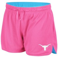 NCAA Texas Longhorns Women's Highlight Mesh Shorts, Neon Pink, Small