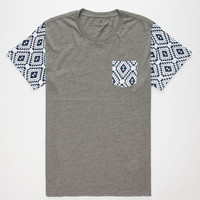 Shouthouse Copeland Mens Pocket Tee Charcoal  In Sizes