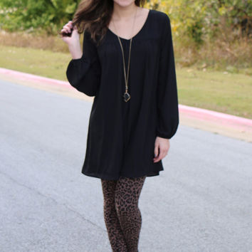 leopard tights taupe