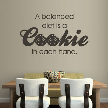rvz1163 Wall Vinyl Sticker Words Sign Quote Lettering Kitchen Cookie Diet