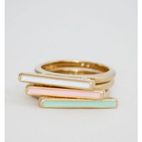 Color Block Rings
