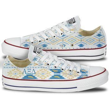 Alpha Xi Delta Tribal Pattern Converse