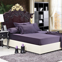 22 momme Purple Luxuer Silk Fitted Sheet