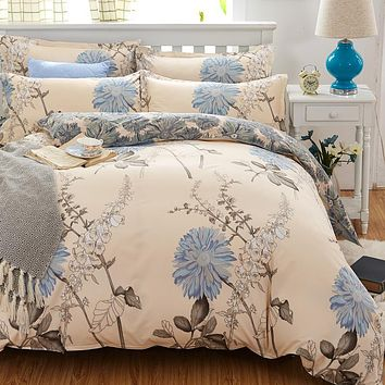 Reactive Print  bedding sets luxury include Duvet Cover Bed sheet Pillowcase,King Queen Full Free shipping