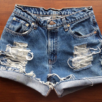 Size 2/4 High Waisted Jean Shorts