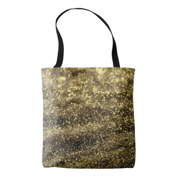 Glitter gold tote bag