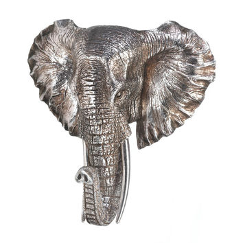 Sensational Elephant Bust Plaque