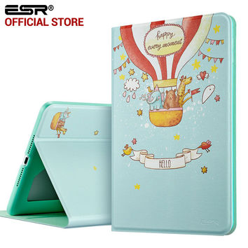 Case for iPad Mini 4 , ESR PU Leather Folio Case Stand with Fashion Cute Cartoon Pattern Smart Cover for iPad Mini 4
