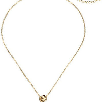 "kate spade new york ""Dainty Sparklers"" Knot Pendant Necklace, 18"""