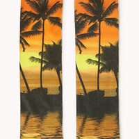 Tropical Sunrise Crew Socks