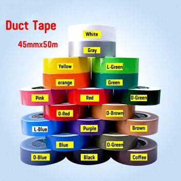 45mmx50M Single-sided Carpet Cloth Duct Tape Multi-Purpose Durable Waterproof Easy Tear Tape Choose Color Free shipping