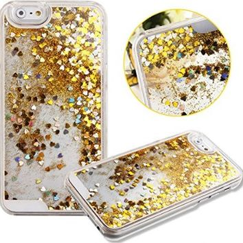 iPhone 6S/6,iPhone 6S Case,iPhone 6S/6 Liquid Case,NSSTAR Creative Design Flowing Liquid Floating Luxury Bling Glitter Sparkle Stars Hard Case for Apple iPhone 6S (2015)/iPhone 6 (2014),Stars:Silver