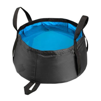 Teal All Purpose Utility Bucket Camp Pail Collapsible Sink Foldable Can, 8.5L