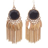 Boho Tassel Earring, Black