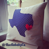 Texas Pillow - Housewarming State Pillow - State Pillow - Housewarming Gift