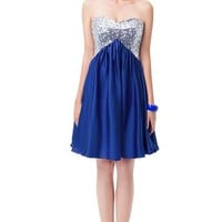 Sunvary Mini Sequin Homecoming Cocktail Prom Dresses for Juniors 2015