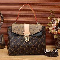 Louis Vuitton Women Fashion Leather Shoulder Bag Satchel Crossbody