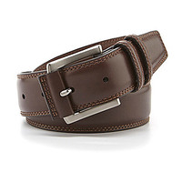 Roundtree & Yorke New Casual Leather Belt - Brown