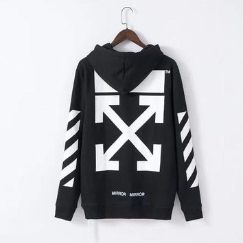 Off-White Fashion Print Hoodie Top Sweater