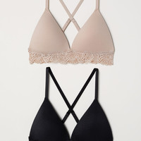 H&M 2-pack Soft-cup Push-up Bras $24.99