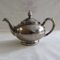 French Vintage Teapot Restaurant Bistro Teapot Metal One Person Teapot