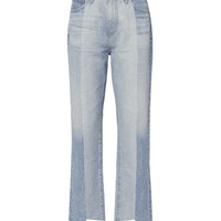 Phoebe Two-Tone Step Hem Jeans