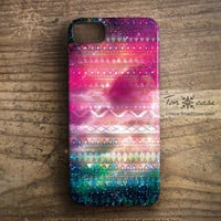 Galaxy iPhone 4 case - Tribal iPhone 4s case, iPhone 5 case, High quality 3D printing - Fantasy space with tribal pattern (c126)
