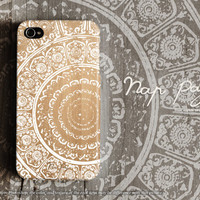 Apple iphone case for iphone iphone 5 iphone 5s iphone 5c iphone 4 iphone 4s iPhone 3Gs :Classic vintage pattern on wood (not real wood)