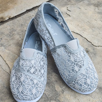 Grey Crochet Shoe