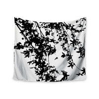"Ingrid Beddoes ""Black on White"" Wall Tapestry"