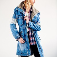 Free People Rendered Denim Parka
