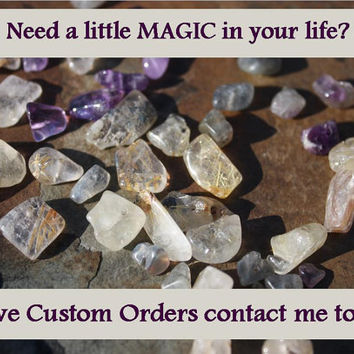 Personalized Healing Crystal Jewelry or Talisman Custom Order Information