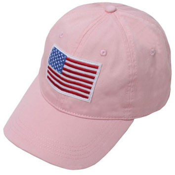 American Flag Patch Pink Cap