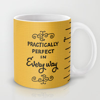 Practically perfect in every way mary poppins measuring tape.. Mug by Studiomarshallarts