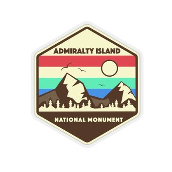 Admiralty Island National Monument Sticker, National Monument Stickers, National Monument Gifts, Admiralty Gifts