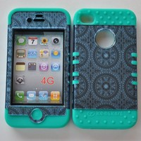 Generic Snap-on Case for Apple Iphone 4 4s - Blue