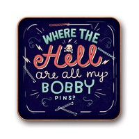 Where the Hell Are All My Bobby Pins? Small Metal Catchall Tray