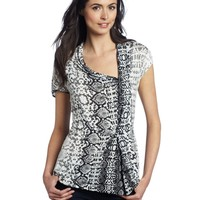 Kenneth Cole New York Women's Python Print Tunic Knit Top